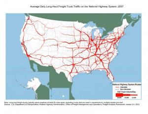 Long-Haul Truck Traffic-2007