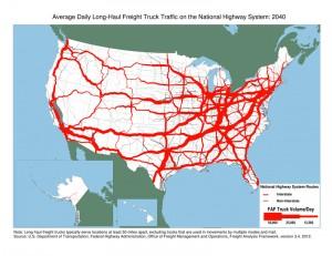 Long-Haul Truck Traffic in 2040